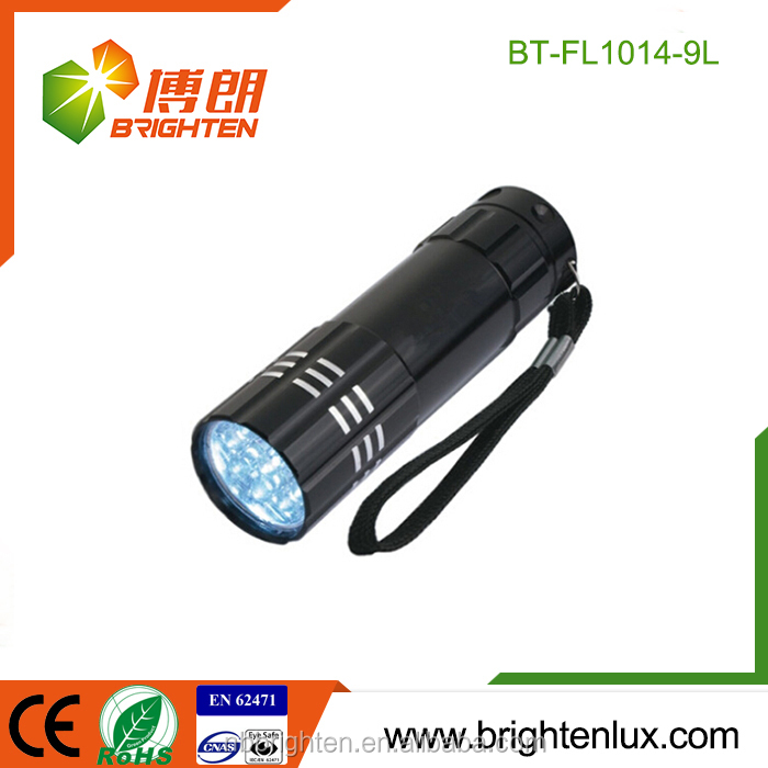 Best-selling Pocket OEM Customized Moeny Checker 3*AAA Operated Ultraviolet 9Led 385nm Inspection uv flashlight fingerprint