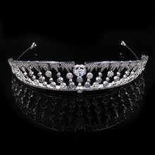 retro european royal cz diamonds micropaved accessories crown tiara for girls gift