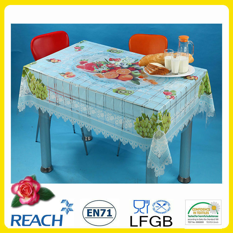 plastic independent transparent table cloth