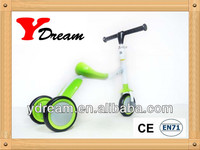 2014 hot selling 2 in 1 scooter strong steel YD-TS001 trike scooter with EVA wheel