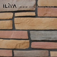 Hot mix color wall decorative artificial stacked stone cladding