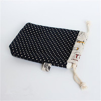 Hot sale phone camera cotton drawstring dust bag