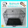 XXL Dog Crate Folding Double-doors Metal Cage Free Tray
