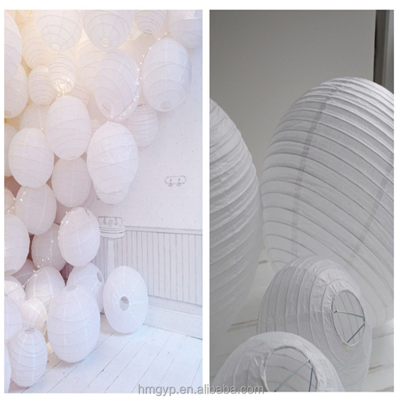 Chinese round white paper lantern in outdoor supplies