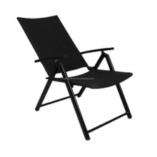 Outdoor Furniture Foldable Rattan Garden Chairs with 7 Position Adjustable Back