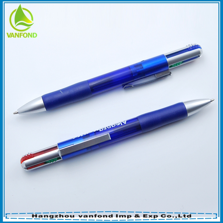 China personalized 4 color ball pen with mechanical pencil