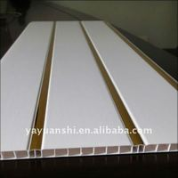 plain plastic pvc ceiling wall panels,tiles,boards with two grooves