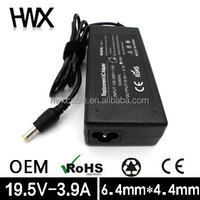 Laptop power adapter for SONY 90W 19.5V 3.9A notebook computer power supplier