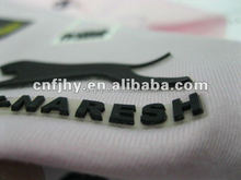 3D rubber high built heat transfer, high quality customized iron on clothes sticker
