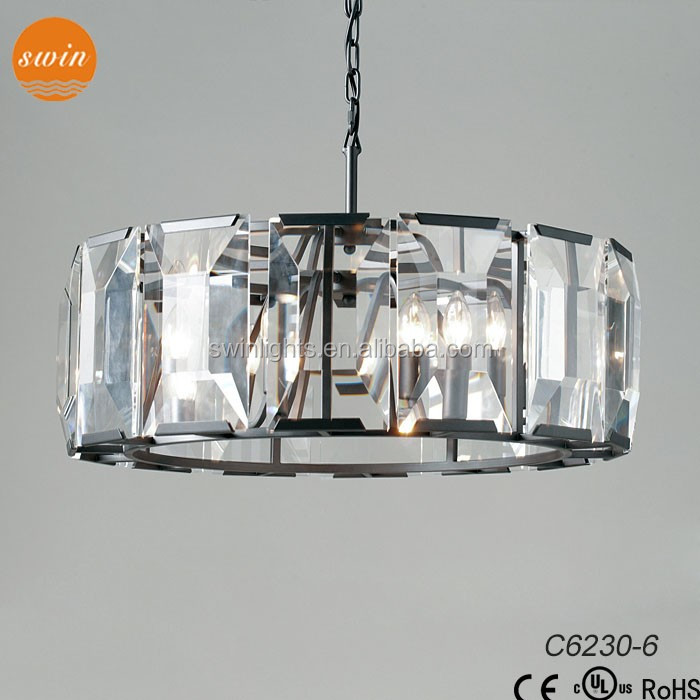 RH bigl prisms harlow crystal round chandelier lighting for hotel with ul/ce C6230-6