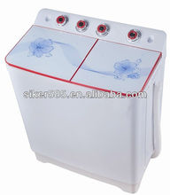 Top loading twin tub washing machine in home appliance