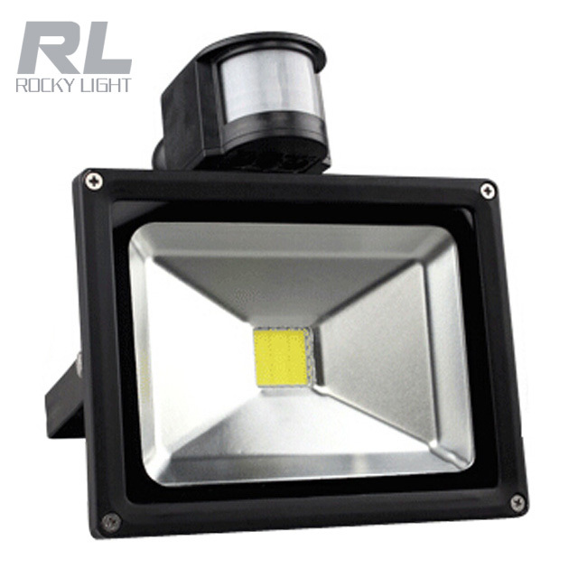 Outdoor infrared PIR motion sensor LED flood light 20w 50w security detector activated light