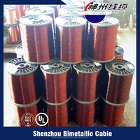 Best selling imports off-white enameled copper clad aluminum wire