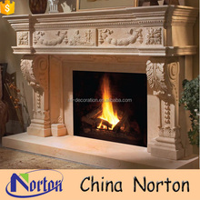 Traditional cast stone fireplace mantel surround NTMF-F733A