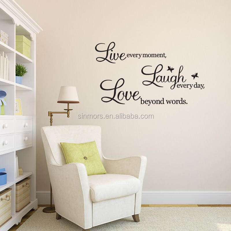 words decorative sticker wall stickers home decor wall quote vinyl scratch off stickers