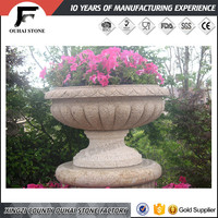 Natural white granite stone material useful japanese flower pots