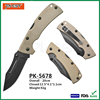 New EDC G10 Handle Folding Blade Tactical Combat Knife