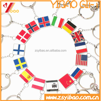 2015 customized country flag metal keychain and Irregular shape key chain