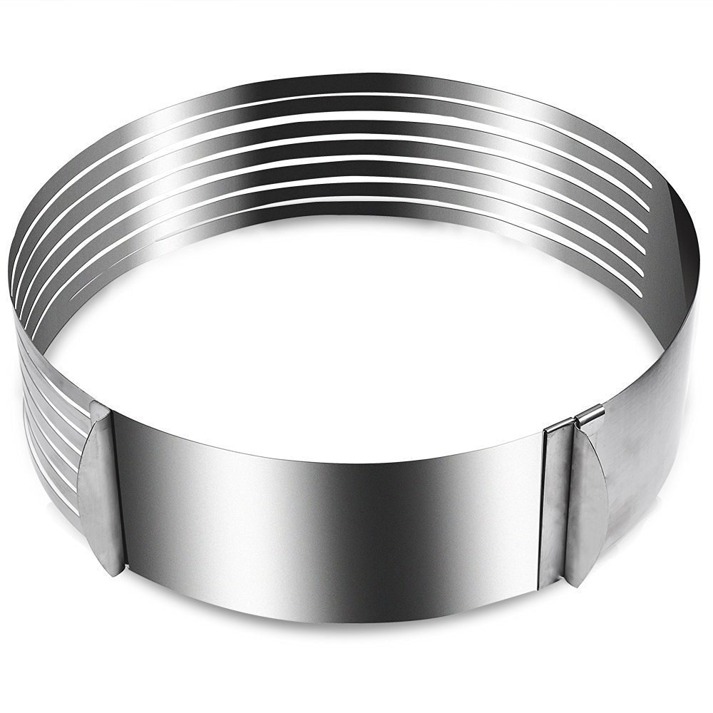 Adjustable Mousse Ring, Stainless Steel Cake Ring Cutter, Layer Cake Slicer Kit Mousse Slicing Cake