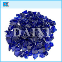 China crushed pigmented firepit glass