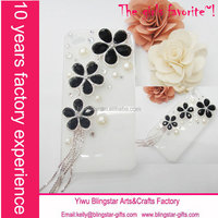 wholesale crystal alloy flower case for iphone 6