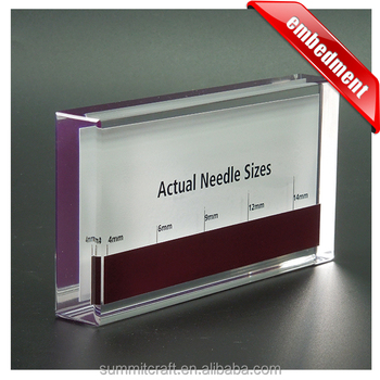 Summit Crafts high quality clear resin acrylic embedment display block manufacturers