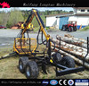 ATV or Tractor Mobile self powered Hydraulic Drive Log Wagon with Crane LT3000