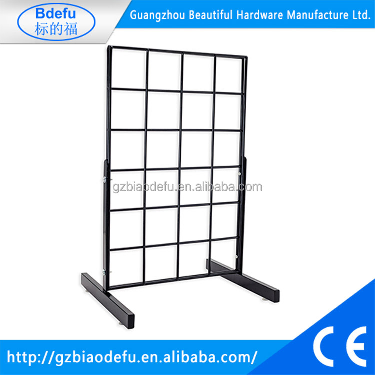 Countertop Grid Gridwall Display with T Leg