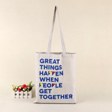 2018 Promotional wholesale shopper canvas cotton carrier bag