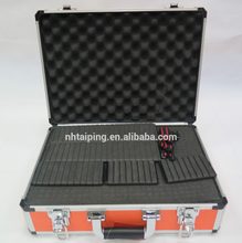 China Top Quality Orange Fireproofing Board Aluminum Tool Case With Foam Padding And Dividers