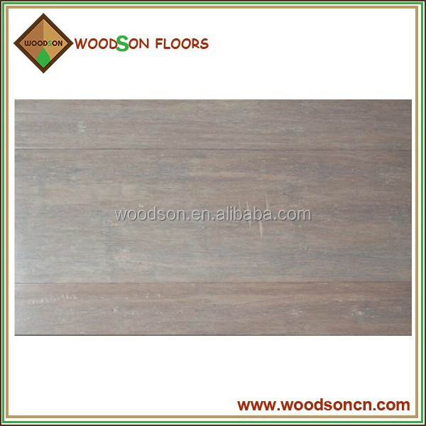 Grey Stained Stranded Solid Bamboo Flooring
