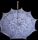 White lace wedding parasol decorative straight umbrella with wood shaft and handle