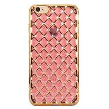 Diamond Grid Transparent cover for iphone Soft back case for iphone 6 case