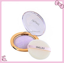 Charming baked powder makeup foundation with powder puff