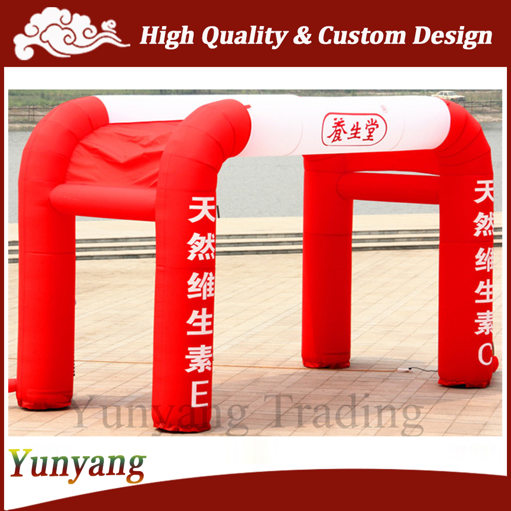 Red and White Outdoor Activity Inflatable Tent for Advertising