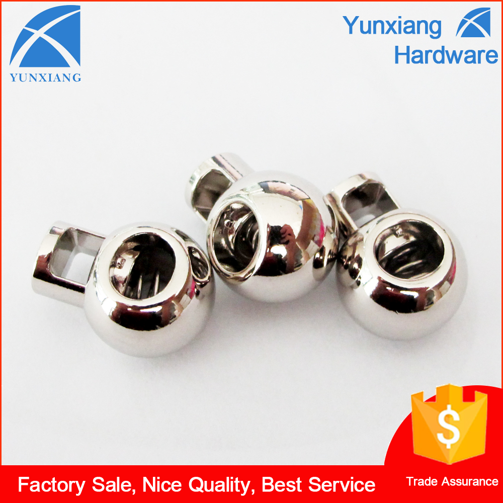 CD2490 Custom Fashion Silver Plated Metal Round Ball Cord Stoper