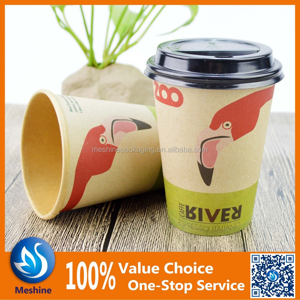 Offset printing personalized paper coffe cup