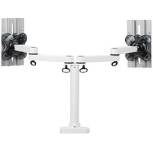 EASYFLY dual medical monitor arm mount bracket with cable management
