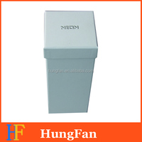 Fashion white paper gift box with hot stamping logo