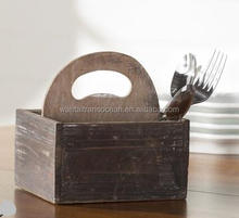 Wooden Square plant /bar serving Caddy