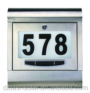 Convenient solar powered lighted post mailbox Parcel Delivery Box