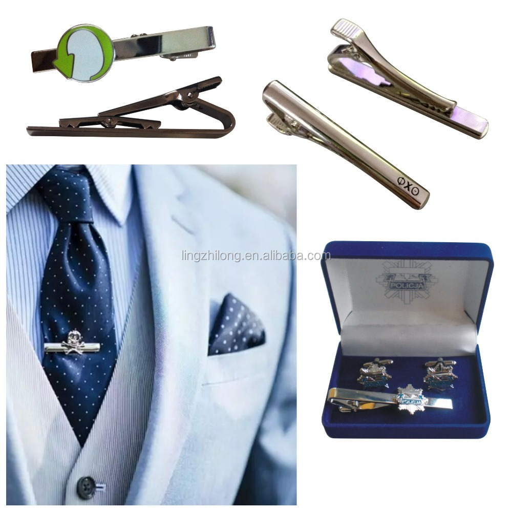 Custom men's jewelry Wholesale Tie Bar Metal Tie Clip