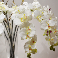 indoor wholesale Chinese silk artificial orchids wedding centerpiece