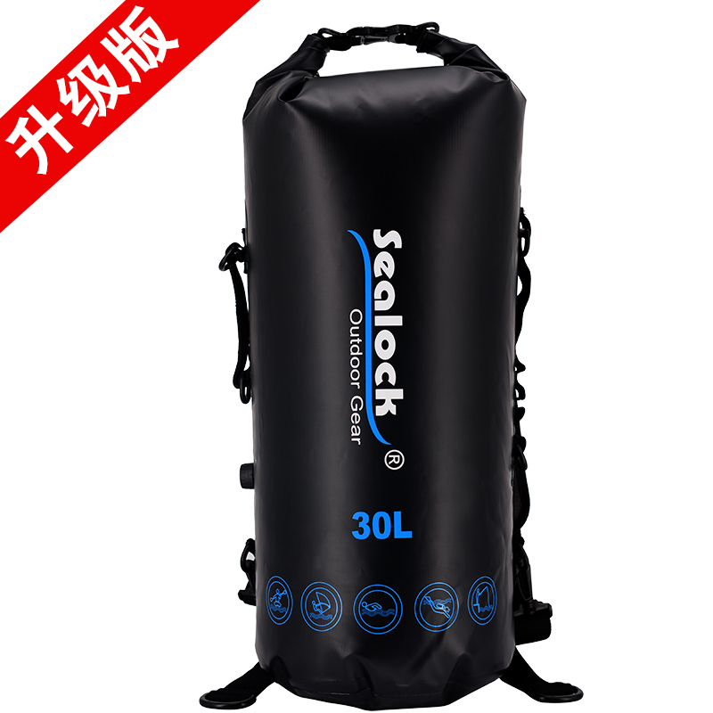 Sealock PVC with ODM OEM factory price waterproof day trips Camping Hiking shoulder outdoor sport backpack for men large