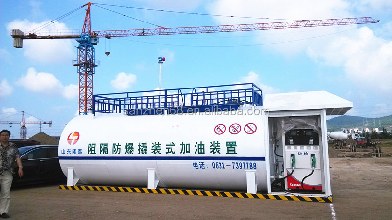 Skid mounted Container Gas Station Petrol Filling Station mobile chemical container exporting