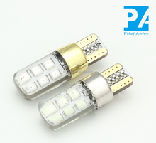 Autos Tube Bulb Light Lamp Car Silicone LED 2835 24smd T10 194 W5W Staic Falsh