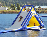 Best quality inflatable floating water slide for sale