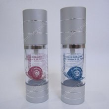AS and aluminum airless bottle with printing for lotion