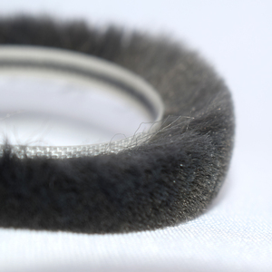 flexible plastic weather strip wool sealing strip aluminum window mohair wool pile Door strip