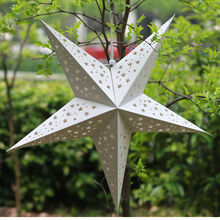 Large lucky star paper for indoor&outdoor decoration